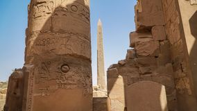 Karnak Temple in Luxor, Egypt. The Karnak Temple Complex, commonly known as Karnak, comprises a vast mix of decayed temples,. Karnak Temple in Luxor, Egypt. The royalty free stock photos