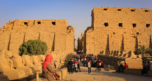 Karnak Temple in Luxor, Egypt Stock Photo