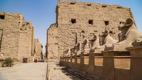 Karnak Temple in Luxor, Egypt. The Karnak Temple Complex, commonly known as Karnak, comprises a vast mix of decayed temples,. Karnak Temple in Luxor, Egypt. The stock image