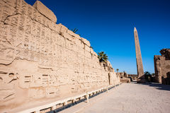 Karnak temple, Luxor, Egypt. Obelisk of the Karnak temple, Luxor, Egypt (Ancient Thebes with its Necropolis royalty free stock photos