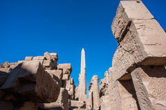 Karnak temple, Luxor, Egypt. Obelisk of the Karnak temple, Luxor, Egypt (Ancient Thebes with its Necropolis royalty free stock photography
