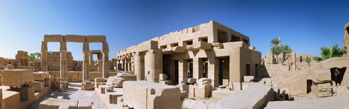 The Karnak Temple , Luxor, Egypt. Panorama Royalty Free Stock Photography