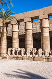 Karnak temple, Luxor, Egypt. Part of the Karnak temple (Ancient Thebes with its Necropolis), the main place of worship of the eighteenth dynasty Theban Triad stock photos