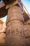 Karnak temple, Luxor, Egypt. Pillars of the Great Hypostyle Hall of the Karnak temple, Luxor, Egypt (Ancient Thebes with its Necropolis stock image