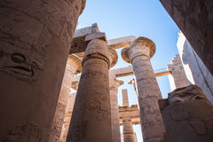 Karnak temple, Luxor, Egypt. Pillars of the Great Hypostyle Hall of the Karnak temple, Luxor, Egypt (Ancient Thebes with its Necropolis stock photos