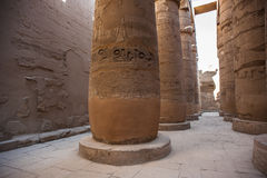Karnak temple, Luxor, Egypt. Pillars of the Great Hypostyle Hall of the Karnak temple, Luxor, Egypt (Ancient Thebes with its Necropolis royalty free stock photos