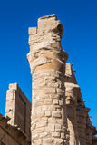 Karnak temple, Luxor, Egypt. Pillars of the Great Hypostyle Hall of the Karnak temple, Luxor, Egypt (Ancient Thebes with its Necropolis royalty free stock photography
