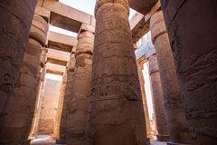 Karnak temple, Luxor, Egypt. Pillars of the Great Hypostyle Hall of the Karnak temple, Luxor, Egypt (Ancient Thebes with its Necropolis stock images