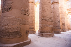 Karnak temple, Luxor, Egypt. Pillars of the Great Hypostyle Hall of the Karnak temple, Luxor, Egypt (Ancient Thebes with its Necropolis stock photography