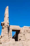 Karnak temple, Luxor, Egypt. Pillars of the Great Hypostyle Hall of the Karnak temple, Luxor, Egypt (Ancient Thebes with its Necropolis royalty free stock photo