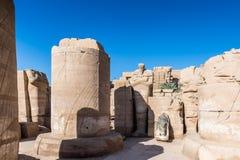 Karnak temple, Luxor, Egypt. Ruins of the Karnak temple, Luxor, Egypt (Ancient Thebes with its Necropolis royalty free stock photo