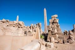 Karnak temple, Luxor, Egypt. Ruins of the Karnak temple, Luxor, Egypt (Ancient Thebes with its Necropolis stock image
