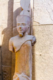 Karnak temple in Luxor, Egypt. Statue of Amun Ra Stock Images