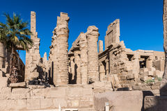 Karnak temple, Luxor, Egypt. View on the Karnak temple, Luxor, Egypt (Ancient Thebes with its Necropolis royalty free stock image