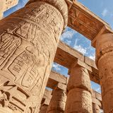 Karnak temple in Luxor royalty free stock photo