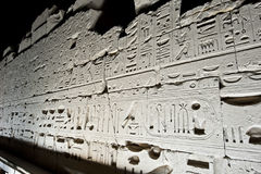 Karnak temple in Luxor at night Royalty Free Stock Image