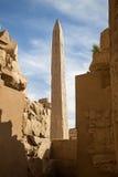 Karnak temple Obelisk. Obelisk of Queen Hapshetsut, Karnak temple, Egypt, Luxor stock photo