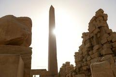 Karnak Temple in Luxor Egypt. The Karnak temple ruins in Luxor Egypt Royalty Free Stock Photos