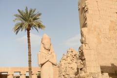 Karnak Temple in Luxor Egypt. The Karnak temple ruins in Luxor Egypt Stock Photo
