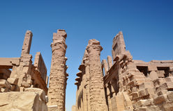 Karnak Temple. Ruins. Luxor. Egypt. Royalty Free Stock Images