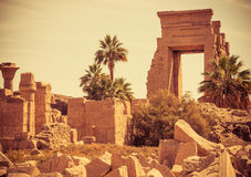 Karnak Temple ruins Royalty Free Stock Photography
