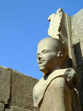Karnak temple statue 04 Royalty Free Stock Photos