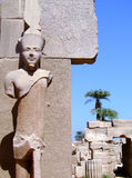 Karnak temple statue 05 Royalty Free Stock Image