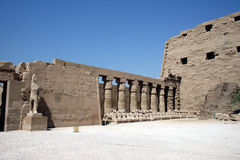 Karnak temple view Royalty Free Stock Photos