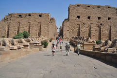Karnaktempel in Egypte Royalty-vrije Stock Foto