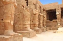 Karnaktempel (Thebes) in Luxor Egypte Royalty-vrije Stock Foto