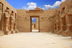 Karnaktempel (Thebes) in Luxor Egypte Stock Fotografie