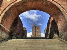 Karnan HDR 05. An HDR image of an old fortification called 'k�rnan' from the city of Helsingborg in Sweden Royalty Free Stock Photo
