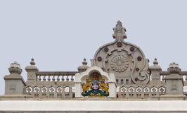 Karnataka Emblem on top of Vidhana Sabha in Bengaluru. Royalty Free Stock Image