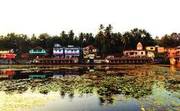 KARNATAKA, INDIA jezioro w Gokarna Obrazy Royalty Free