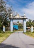 Karnataka powitania brama przy granicą stanu z tamil nadu, India Obrazy Royalty Free