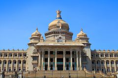 Karnataka state Parliament house in the city of Bangalore, India. BANGALORE, INDIA - Dec13, 2015: Karnataka state Parliament house in the city of Bangalore stock images