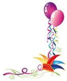 Karnawał, balony, streamers ilustracja wektor