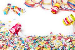 Karnawał, confetti, przyjęcie, tło Zdjęcia Royalty Free