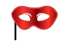karnawał odizolowywająca maska nad czerwonym biel Obrazy Stock