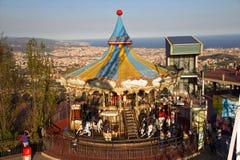 Karnawał w mieście Barcelona zdjęcie stock
