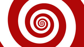 Karnawałowa czerwień & bielu Okulistyczny złudzenie ślimakowata ilustracja, abstrakcjonistyczny tło Obrazy Stock
