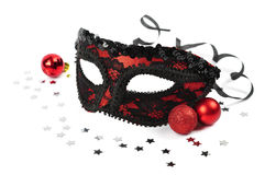 Karnawałowa czerwieni maska fotografia royalty free