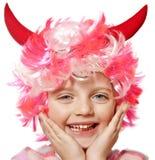 karnawałowa dziewczyny Halloween trochę maska zdjęcie royalty free