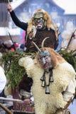 Karnawałowa parada z rzeźbiącą drewnianą maską Obrazy Stock