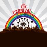 Karnawałowa rozrywka i funfair ilustracji