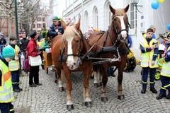 Karnawałowa uliczna parada Fotografia Royalty Free