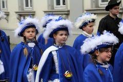 Karnawałowa uliczna parada Obraz Royalty Free