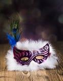 karnawałowe szarość odizolowywająca maska zdjęcie royalty free