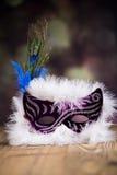 karnawałowe szarość odizolowywająca maska Zdjęcia Stock
