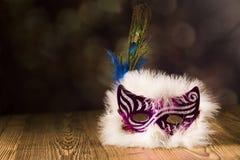 karnawałowe szarość odizolowywająca maska Obraz Royalty Free